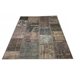 Green and Grey Patchwork Carpet