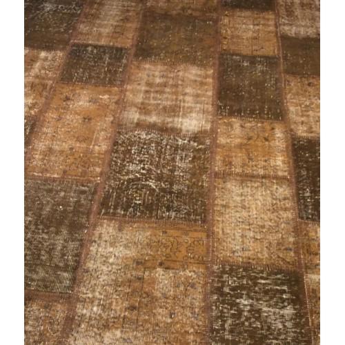 Brown Handmade Patchwork Carpet 6m2