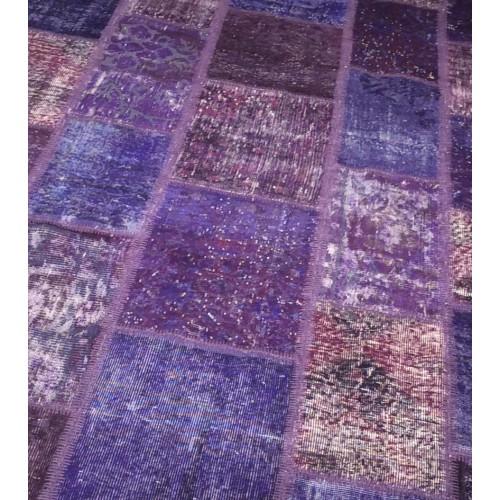 Purple Handmade Patchwork Carpet
