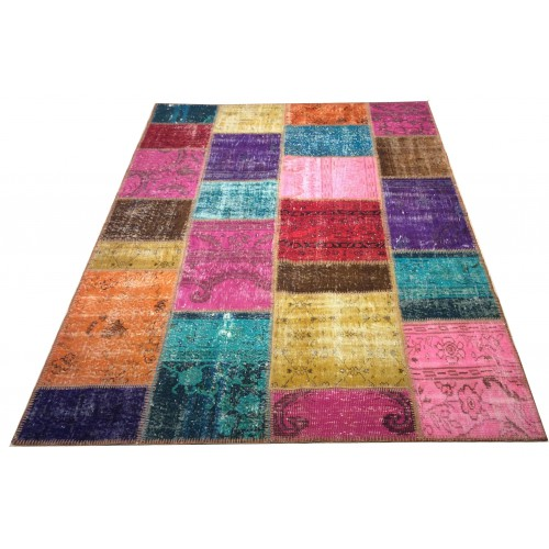 Multicolor Handmade Patchwork Carpet