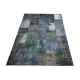 Blue Handmade Patchwork Carpet