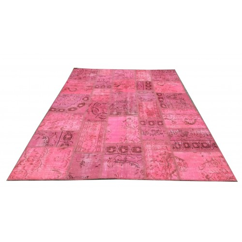 Pink Handmade Patchwork Carpet
