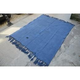 Blue Hemp Rug