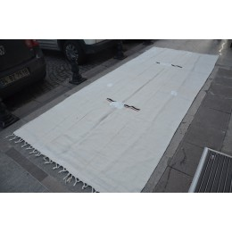 White Turkish Hemp Rug