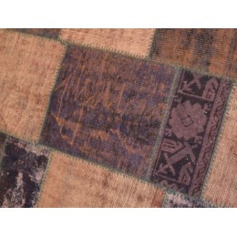 Purple Handmade Patchwork Carpet