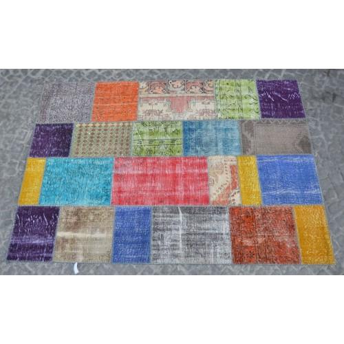 Multicolor Handmade Patchwork Carpet