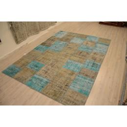 Grey Handmade Patchwork Carpet