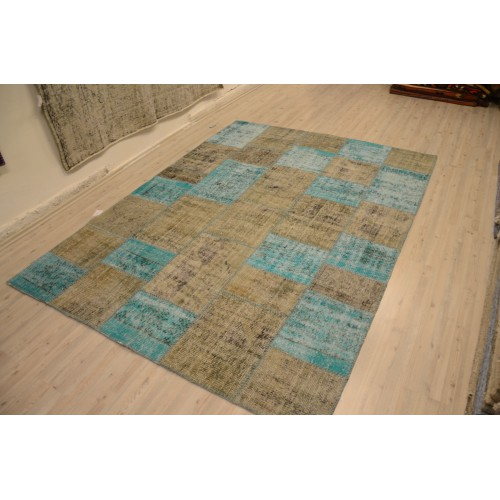 Grey Handmade Patchwork Carpet
