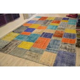 Handmade Patchwork Carpet multi colour