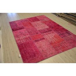 Red Handmade Patchwork Carpet