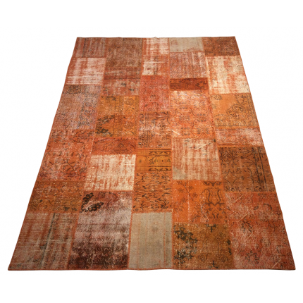 Orange Handmade Patchwork Carpet
