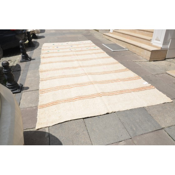 White Hemp Oversized Rug