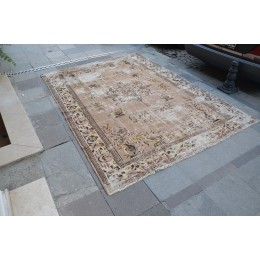 Brown Oushak Rug