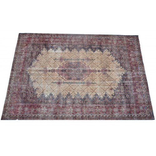 Multicolor Handmade Vintage Overdyed Turkish Carpet