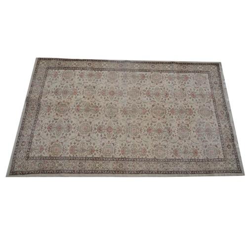 Brown Handmade Vintage Overdyed Turkish Carpet