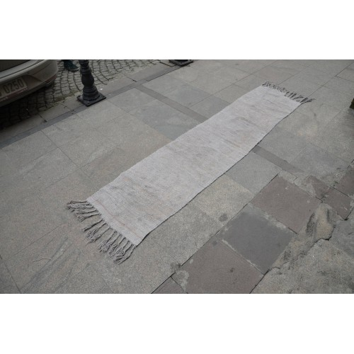 Grey Hemp Runner Rug