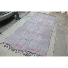 Large Gray Hemp Rug