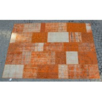 Orange Handmade Patchwork Carpet