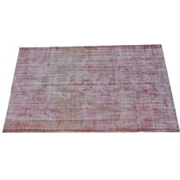 Red Handmade Vintage Overdyed Turkish Carpet