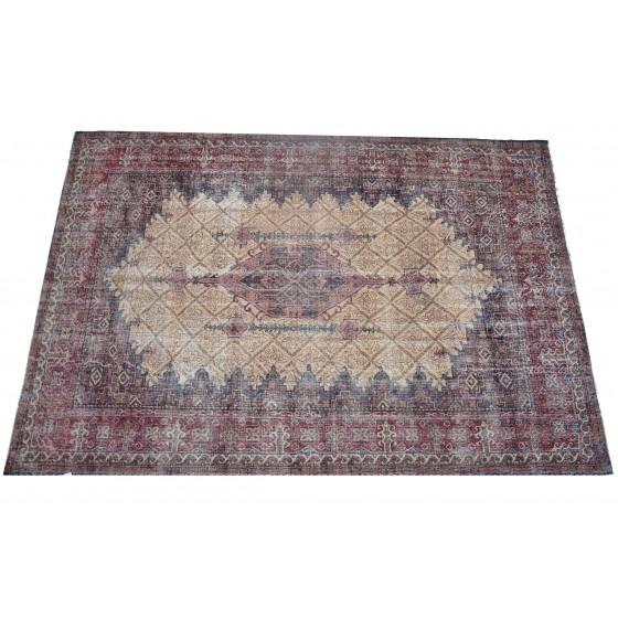 Multicolor Handmade Vintage Overdyed Turkish Carpet